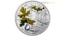 20 $ Dollar Bigleaf Maple Leaf Jewel of Rain Kanada 1 oz Silber PP 2016