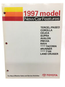 Toyota New Training Manual Car Features 1997 Book Multiple Models