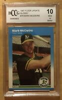 Mark McGwire Rookie Grade 10 1987 Fleer Update #76 Glossy BCCG