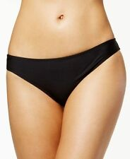 NEW Bar III Solid Black Ruched Back Hipster Bikini Swim Bottom XL XLarge