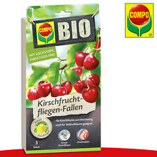 COMPO 1 x 3 Pièce Bio Kirschfruchtfliegen-Fallen Pour Kirsch- Et Walnussbäume
