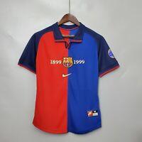 1899-1999 Barcelona Home 100th Anniversary Version Retro Soccer Jersey