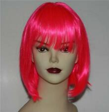 GLAM Nu NEW WAVE PUNK Pink Color Womens BOB Style Hair WIG HAIRPIECE Costume New