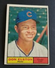 ORIGINAL1961 TOPPS CHICAGO CUBS BASEBALL CARD #169 DON ELSTON  EX.MINT