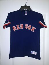 Vintage 1998 Russell Athletic Boston Red Sox Shirt YOUTH MEDIUM Navy Blue - NEW