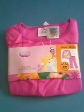 NWT DISNEY PRINCESS TODDLER GIRLS 2-PC FLANNEL PAJAMAS BRIGHT PINK SIZE 4T