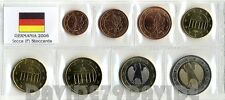 SERIE COMPLETA 8 MONETE EURO GERMANIA 2006 ZECCA ( F ) IN BLISTER