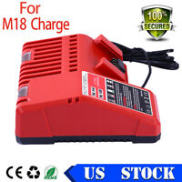 Brand New Milwaukee 48-59-1812 14.4V-18V 18 Volt M18 Lithium Ion Charger Red US