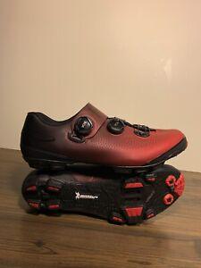 Shimano XC7 Carbon MTB Boa Mountain Bike Shoes Red SH-XC701 44 (US 9.7)