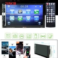 7inch 2DIN HD Car Stereo Radio MP5 Player Bluetooth USB Touchable w/ Rear Camera