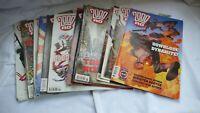 Sci Fi Comic Collection Job Lot Comics Judge Dredd  2000AD Issues 1281 - 1300