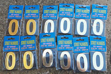 """House Number, Letterbox Number  """"0"""" bulk pack doz (12)- Self Adhesive free post"""