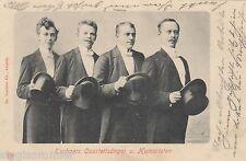 Techners Quartettsänger und Humoristen AK um 1900 Musik Zirkus Varieté 1607152