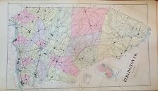"Original 1905 Burlington County New Jersey Atlas Map 18.5"" x 32"""