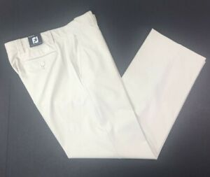 Footjoy Mens Performance Golf Pants Tag 34x32 Measures 30 Tan Spandex FJ Khaki