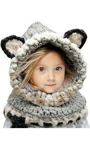 eBoutik - Childrens Winter Knitted Hat & Snood Scarf Set - One Size Fits All Kid