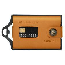 Minimalis Wallet Money Clip RFID Blocking Credit Card Wallet Men Leather-Khaki