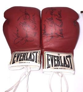 James Buster Douglas Signed Full Size Boxing Gloves  W/RARE INSCRIPTION