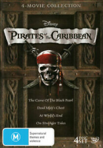 PIRATES OF THE CARIBBEAN: 4-MOVIE COLLECTION (THE CURSE OF THE BLACK [NEW DVD]