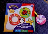 CBeebies My First Counting Animal Puzzle Game Toy Brand New Boxed