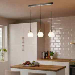 Ikea Triple Cord Set with Ceiling Mount Nickle Plate Kitchen Dinning Light Decor