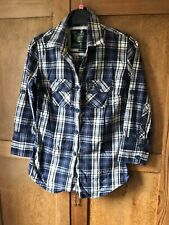 Women's Superdry Checked Shirt Size 6