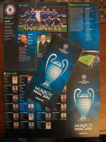 Chelsea v Bayern Munich 2012 Champions League final Ticket pamphlet & uefa list