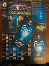 Chelsea V Bayern Munich 2012 Champions League Final ticket Pamphlet & UEFA liste