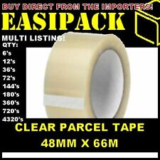 Strong CLEAR 48mm X 66M (2 Inch) Parcel Tape Packaging Packing Econ. Tape