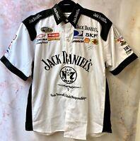 Nascar Pit Crew Shirt Embroidered Patchwork Jack Daniels JH Design