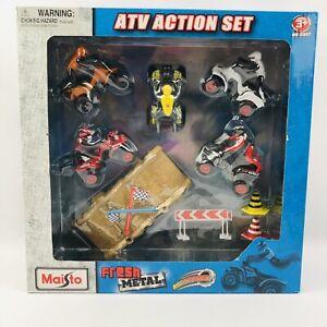 ATV ACTION SET, CARS, TRACK, STUNTS, MAISTO FRESH METAL