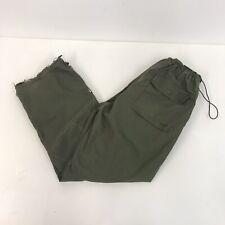 Maharishi Trousers Olive Khaki Green Embroidered Sz 12 UK Ladies