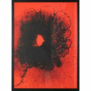 """Otto Piene """"Feuerflora"""" 1971 Serigraphie handsigniert"""