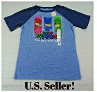 NWT PJ Masks Blue Raglan Graphic Tee T Shirt Boys Youth Size 6 or 8 You Choose
