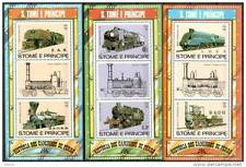 Sao Tome 1982 MNH 3 SS, Railways, Trains, Eisenbahn (J1n)