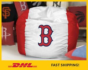 Boston RED SOX Bean Bag Chair Cover, MLB Baseball BeanBag Gift (covers only)