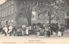 FRANCE CPA -  Aude 11 - QUILLAN, Hotel Verdier, Voitures,  Cuisiniers - Old Cars