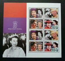 Gibraltar HM Queen Elizabeth II's 80th Birthday 2006 Royal Famous (sheetlet) MNH