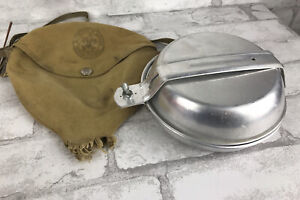 Vintage BSA National Council Mess Kit With Carry Case  Boy Scouts of America