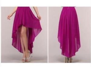 New High Low Bridesmaid Dresses Homecoming Formal Prom Party Gown Plus Size 2-26