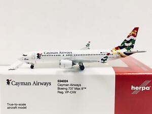 Herpa Wings Club Cayman Airways Boeing 737 Max 8 1:500 VP-CIW 534024