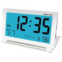 Travel Alarm Clock Lcd Mini Digital Desk Folding Electronic Alarm Table Clo O3G3