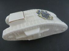 Antique Crested China, Ww I, Tank