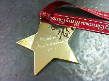 Personalised Gold Plated Christmas Tree Star - Free  Engraving