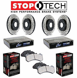 For Toyota Celica GT-S Front & Rear Drilled & Slotted Brake Discs Sport Pads