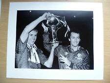 Org Foto Stampa-Grahame ROBERTS & TREVOR FRANCIS A 1987 scozzese Finale Coppa delle gambe