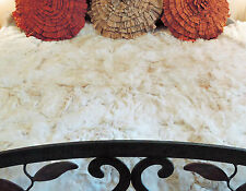 """BOLIVIAN BABY ALPACA Fur Bed Cover Throw Wall Hanging Rug 68"""" x 80"""" Vintage 1977"""