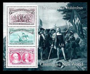 1¢ WONDER'S ~ MNH MINI SOUVENIR SHEET W/ $4.00 VOYAGES OF COLUMBUS ~ T403