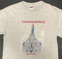 Nellis Air Force Base T Shirt Mens Medium Thunderbird Airplane US Military AFB