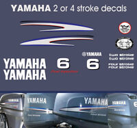 YAMAHA 6hp 2 stroke and 4 stroke outboard decals